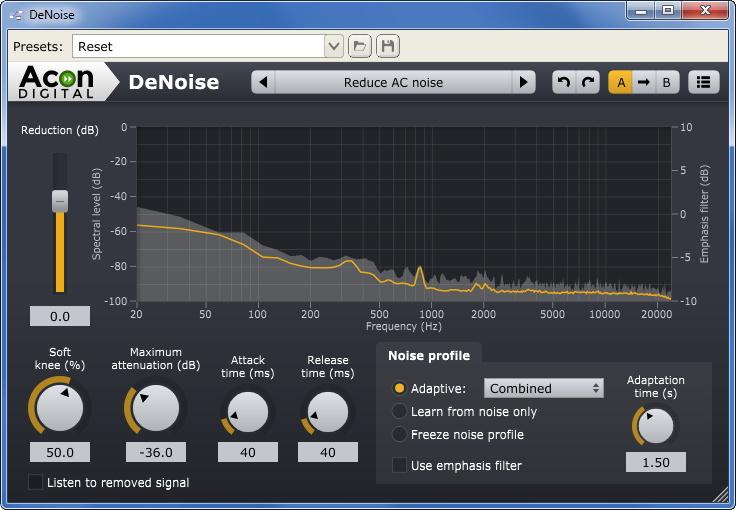 Шумоподавление аудиозаписи с микрофона в режиме реального
